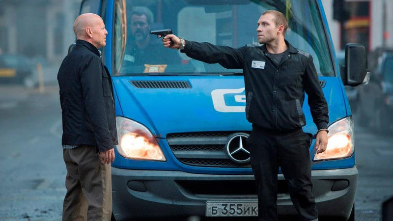 Illustration for article titled A Good Day To Die Hard Will Be Full Of Mercedes Vans And Trucks