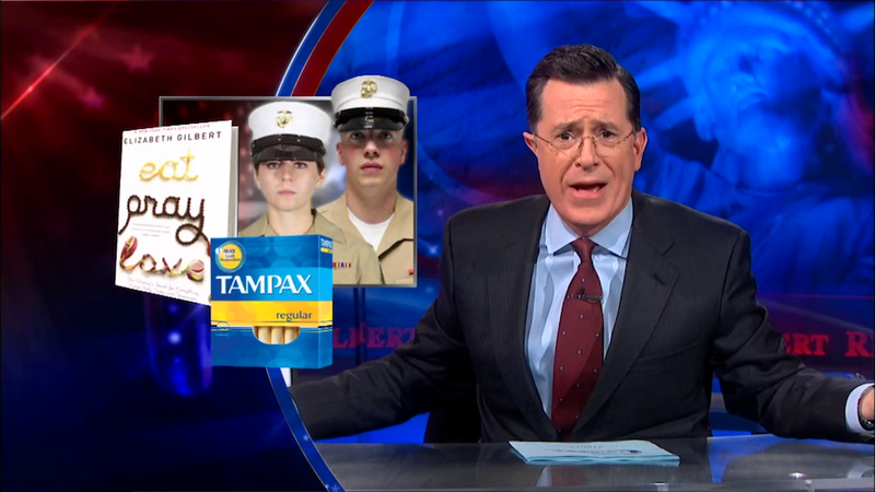 Illustration for article titled Here's Colbert's Hilarious Takedown of the Marines' New Girly Hats
