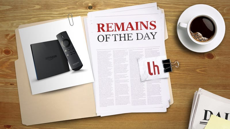 Illustration for article titled Remains of the Day: Amazon Adds More Alexa Voice Features to Fire TV
