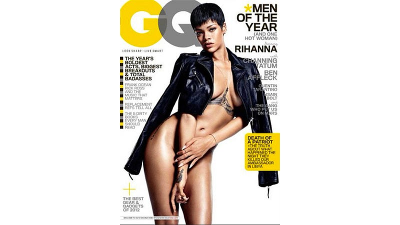 Illustration for article titled Of Course Rihanna Is Naked on GQ's 'Men of the Year' Issue