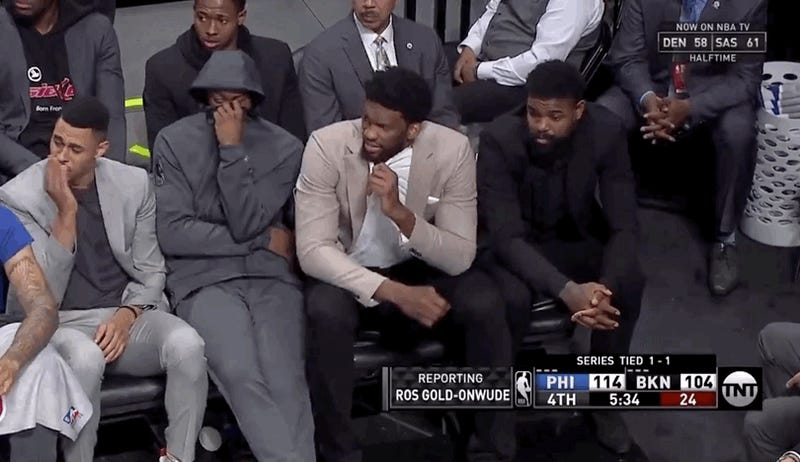 Someone Farted Near The Sixers' Bench