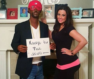 Heath Morrow and his wife, Shannon, dressed as Kanye West and his wife.Twitter