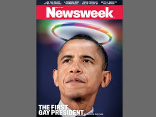 Illustration for article titled Newsweek Cover: Obama Is First Gay President
