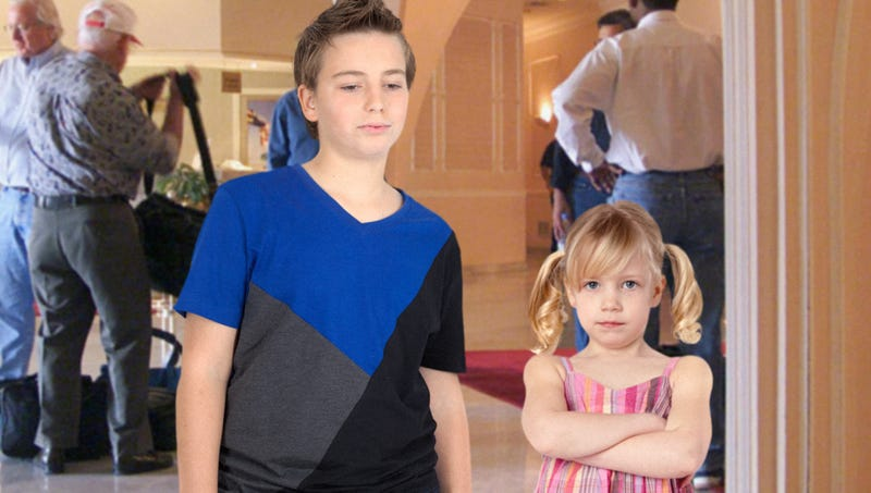 Illustration for article titled Children Starting To See Through Dad's Claim That DoubleTree Hotel Part Of Disney Resort