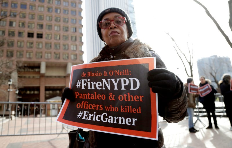 Illustration for article titled Officer Responsible for Eric Garner's Death Will Finally Face a Disciplinary Trial in May