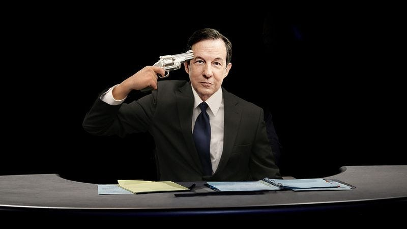 Illustration for article titled Keeping It Civil: Chris Wallace Has A Gun To His Head And Will Pull The Trigger If The Candidates Interrupt Each Other