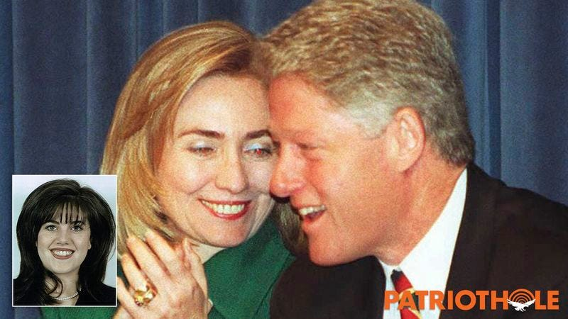 Bill Clinton and Hillary Clinton (Inset Photo: Monica Lewinsky)