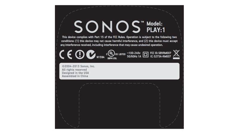 Illustration for article titled Sonos Play:1 FCC Filing Hints At Bookshelf Speaker
