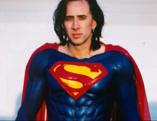 "Illustration for article titled Nic Cage Says You Can See Superman Lives With The ""Power of Imagination"""