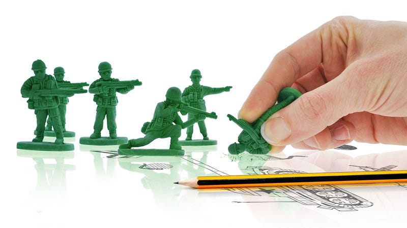 Illustration for article titled Army Men Erasers Bravely Fight the War On Error