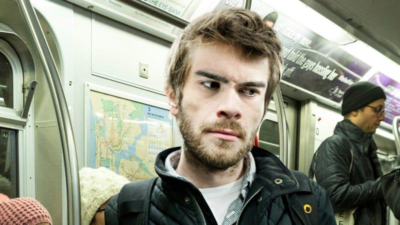 Illustration for article titled Pervert On Subway Won't Stop Staring At Masturbator