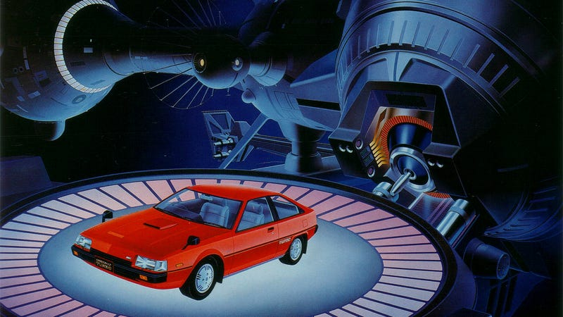 A Mitsubishi Cordia Turbo, a very good contender for a car to get shot into space.