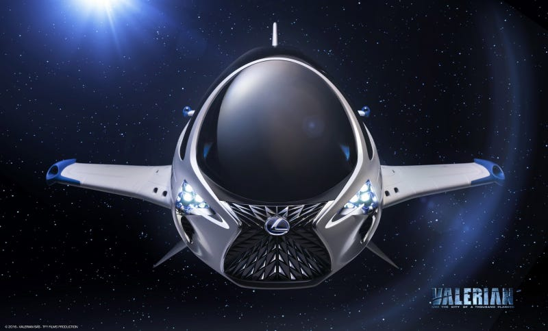 Illustration for article titled Lexus Put Its Awkward Ugly Face On A Spacecraft ForValerianAnd Oh No