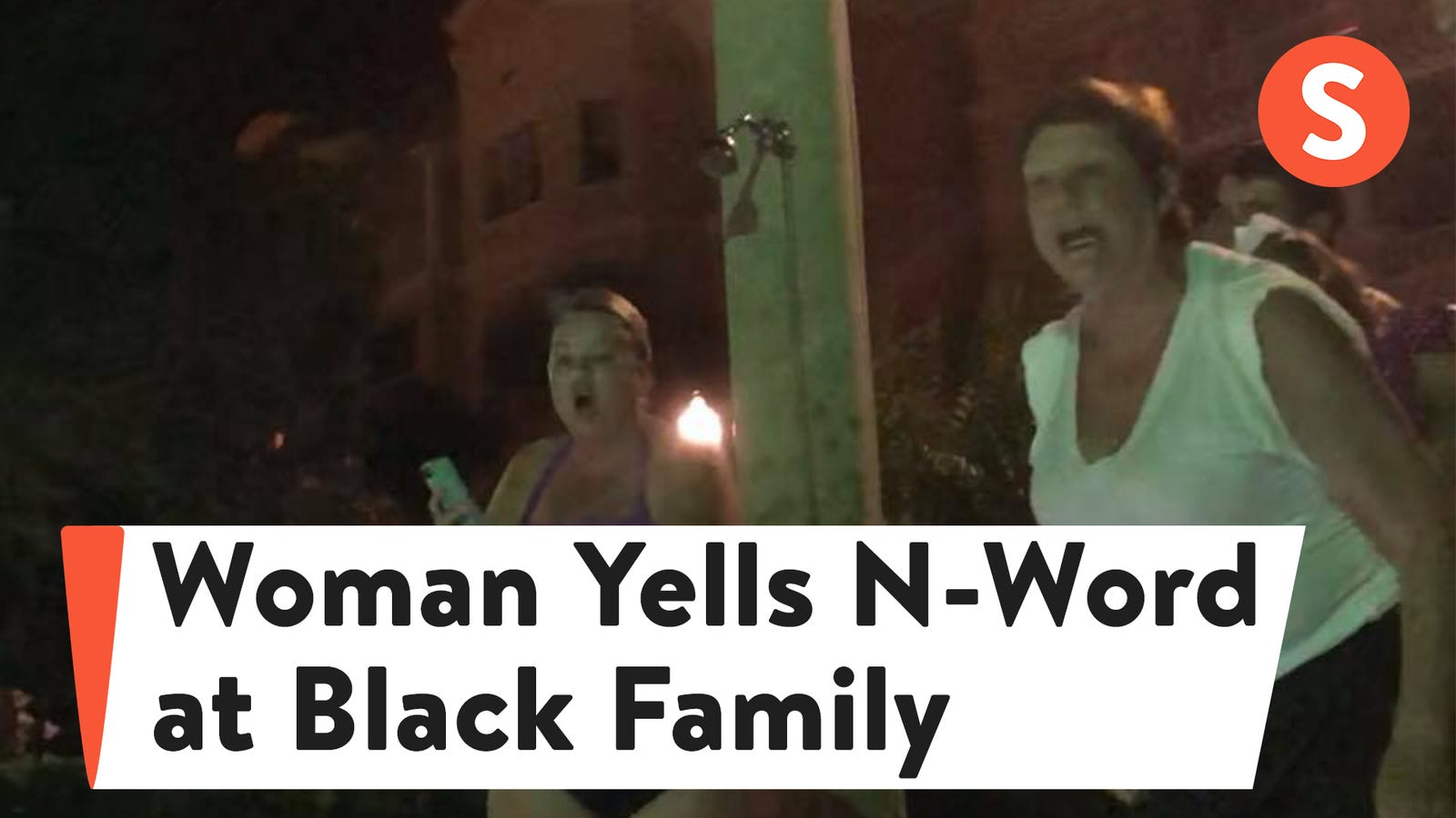 woman filmed screaming the n word at a black family in florida