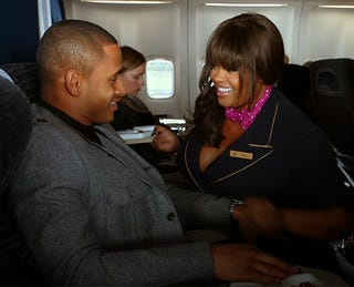"""Illustration for article titled Lusty, Busty & Fine: Jill Scott in """"Baggage Claim"""" Shows That Big Girls Can Get Sexy Too"""