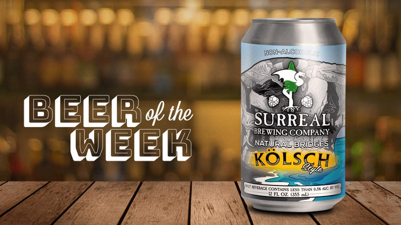 Illustration for article titled Beer Of The Week: Surreal's Natural Bridges kolsch is a non-alcoholic beer I can get behind