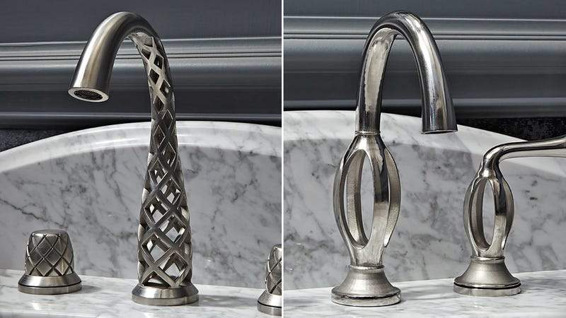 Illustration for article titled These Impossibly Twisted 3D-Printed Faucets Somehow Actually Work