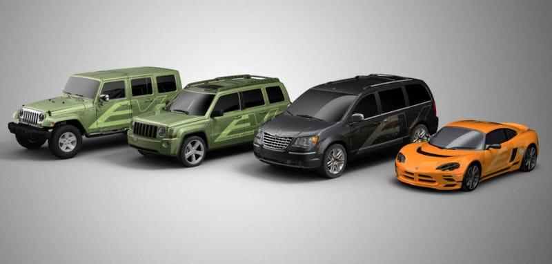 Illustration for article titled Chrysler ENVI Program Updated With New Models, Big Stickers, Bigger Dreams