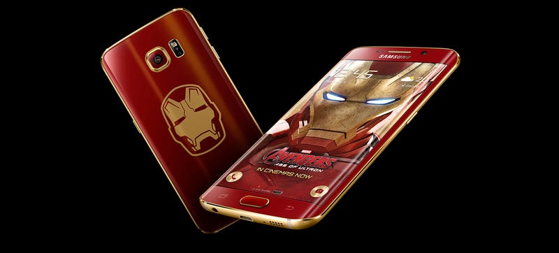 Illustration for article titled Be Relieved You Can't Buy This Iron Man  Galaxy S6 Edge in the U.S.