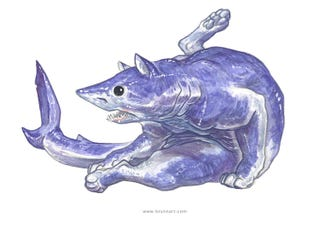 Illustration for article titled Sharks And Cats Combine To Form The Most Adorably Terrifying Creatures