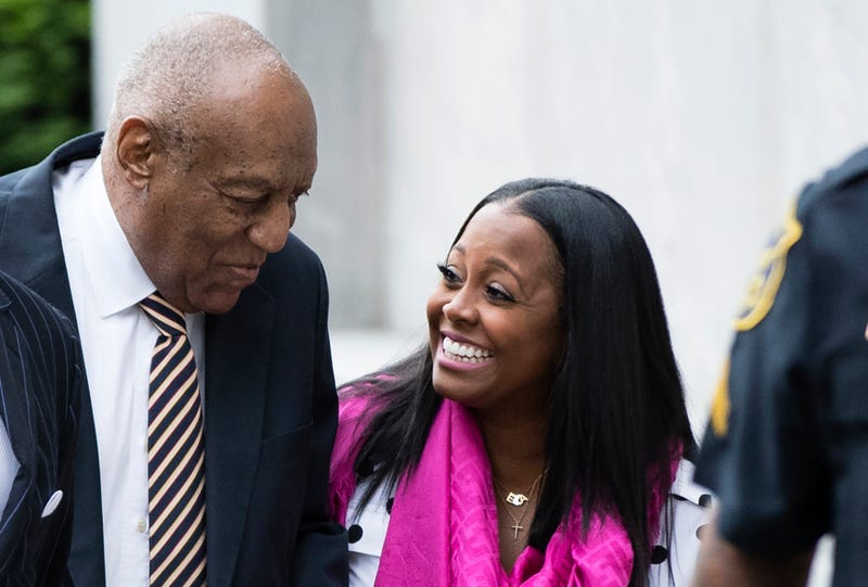 Bill Cosby arrives for his sexual assault trial with Keshia Knight Pulliam at the Montgomery County Courthouse in Norristown, Pa., on June 5, 2017. (/Matt Rourke/AP Images)