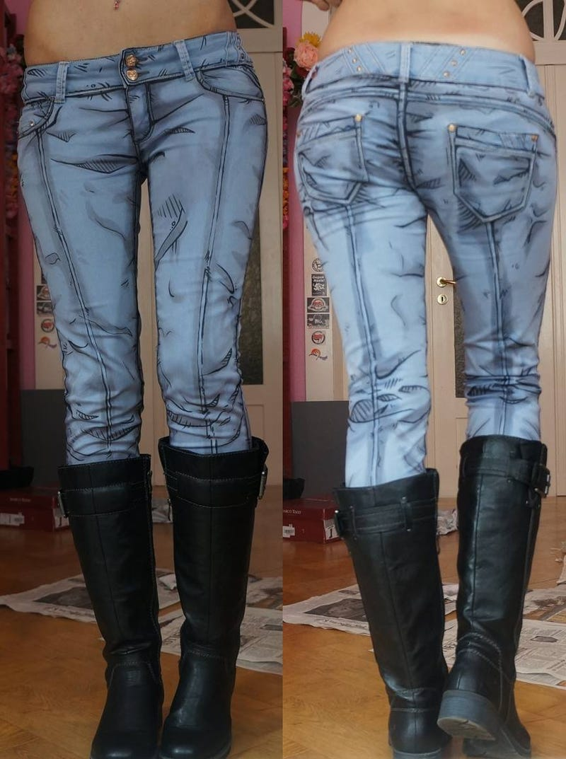 Illustration for article titled Cel-Shaded Jeans Make You Look Like A Cartoon Come To Life