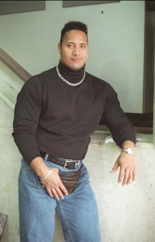 """Illustration for article titled The 1990s Were Unkind To Dwayne """"The Rock"""" Johnson"""