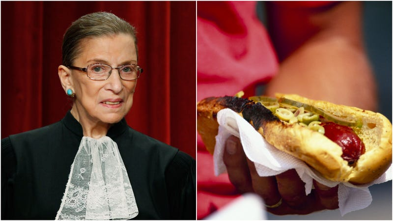Illustration for article titled Ruth Bader Ginsburg issues key opinion: Hot dogs are sandwiches