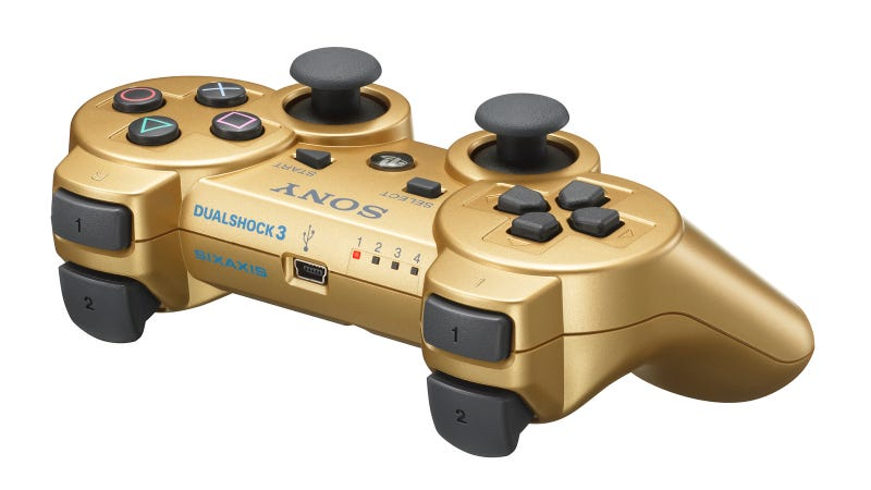 Illustration for article titled America Will Get Its Gold PS3 Controllers Through GameStop