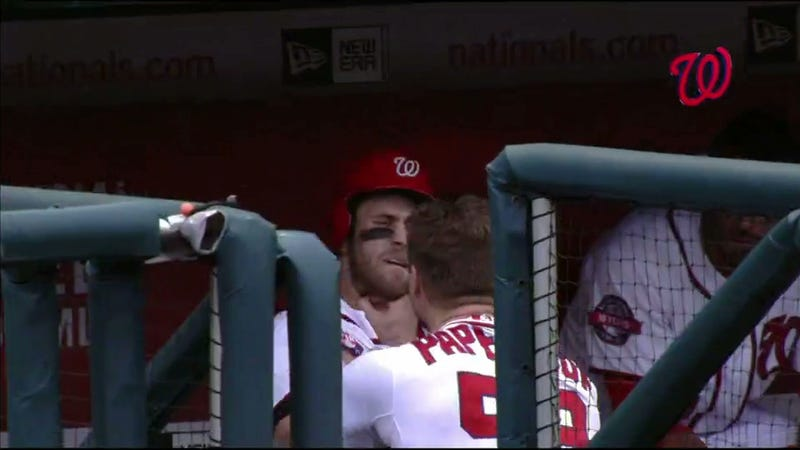 Illustration for article titled Jonathan Papelbon And Bryce Harper Brawl In Nationals Dugout