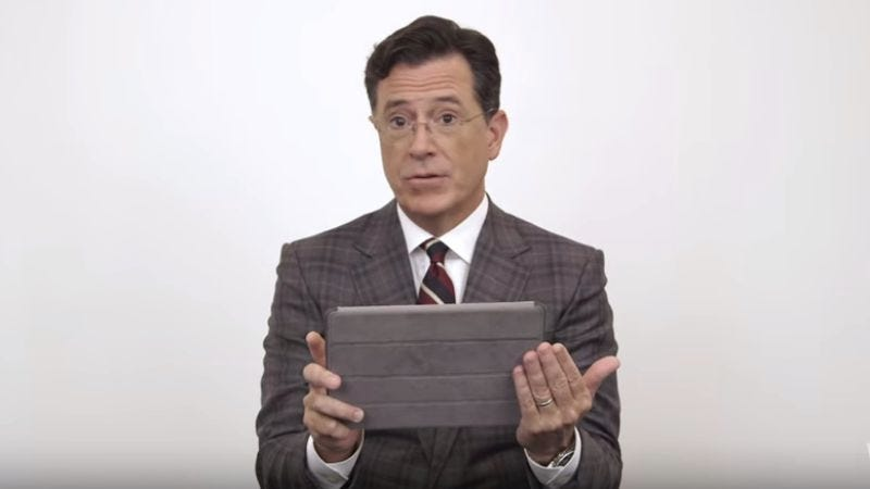 Illustration for article titled Late-night rivals give Stephen Colbert hosting advice for his Late Show debut