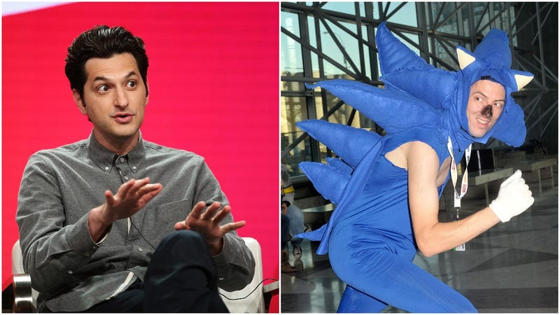 Left: Ben Schwartz. Right: An artistic interpretation of what a real-world Sonic might look like.