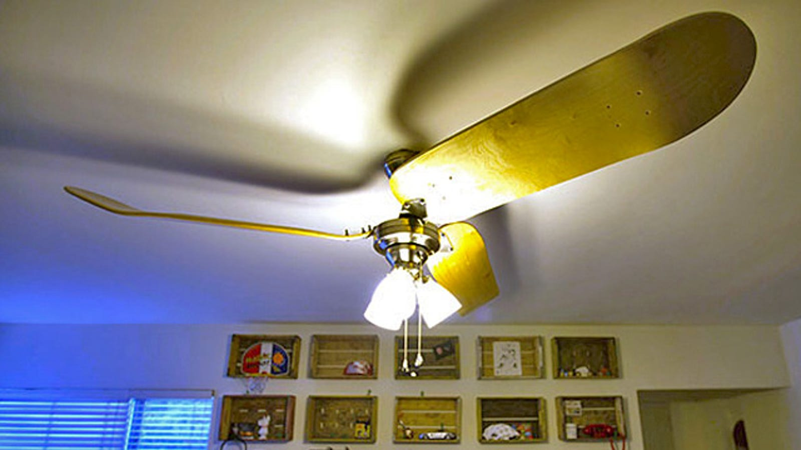 This Skateboard Ceiling Fan Does 900s