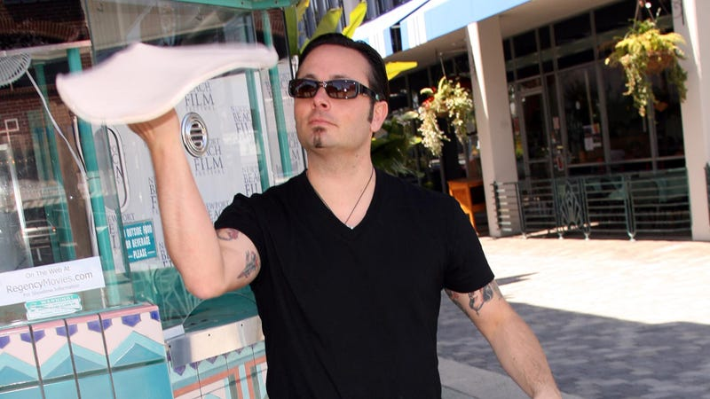 Tony Gemignani, pizza-throwing champion, photographed in 2006