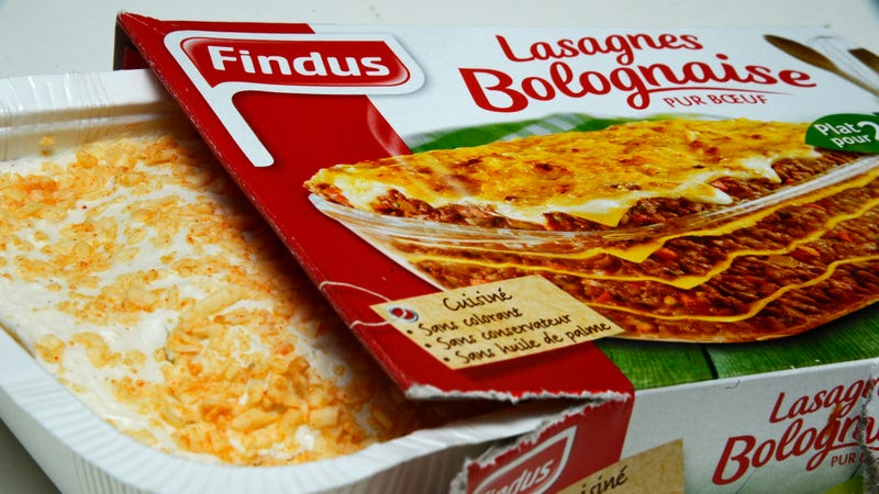 In 2013, it was found that Findus frozen beef lasagna in France, the UK, and Sweden contained horse meat without proper declaration.