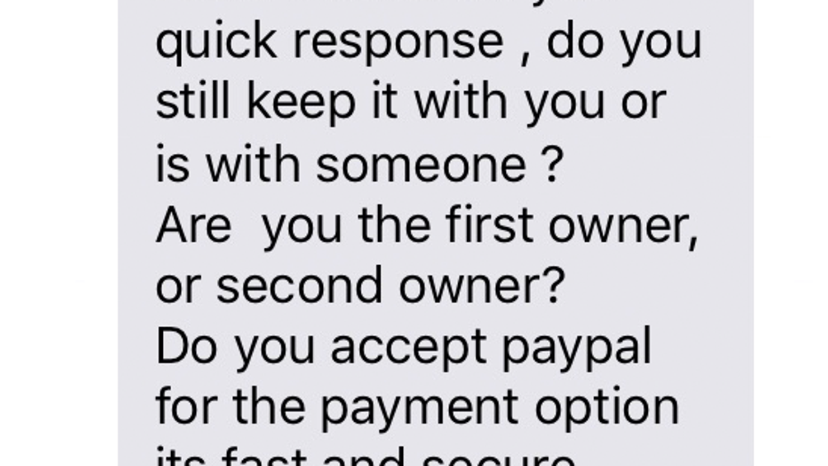 How A Craigslist Scammer Tried To Steal My Moms Car Wiring Money Paypal