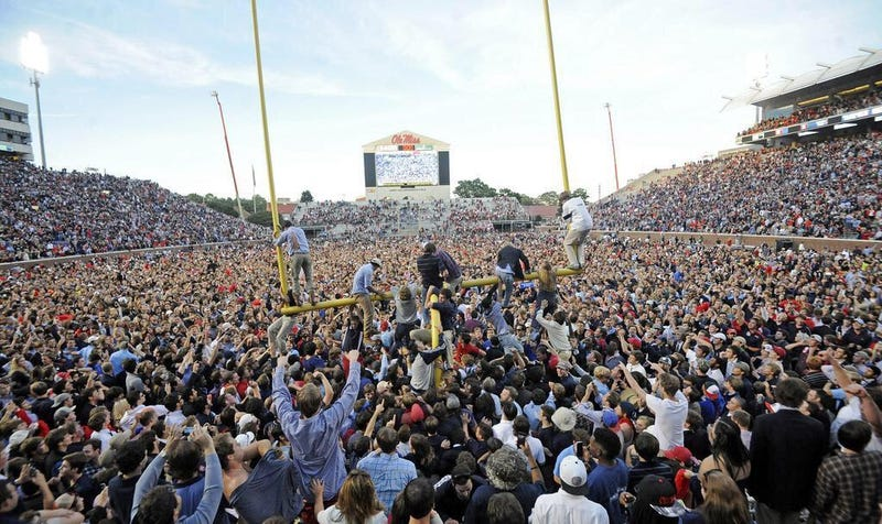 Illustration for article titled Ole Miss Fans Crowdfunded The Rebels' Fine For Storming The Field