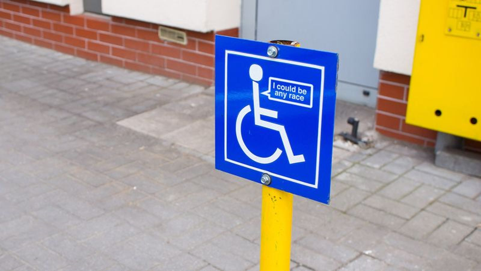Inclusivity FTW! A Speech Bubble Is Finally Being Added To ... Handicap Logo Redesign