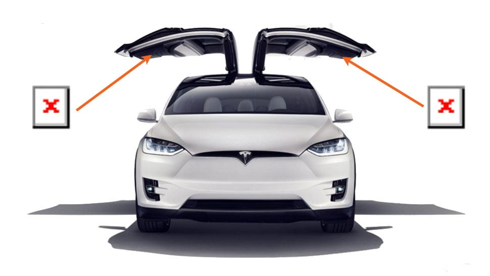 Much of the attention around the Tesla Model X has focused on its unique vertically-opening Falcon doors. They are dramatic and exciting but they\u0027re also a ...  sc 1 st  Jalopnik & Did Tesla Quietly Remove A Safety Feature From The Model X\u0027s ...