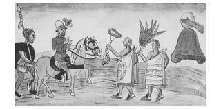 Juan Garrido (left) (Diego Duran, Historia de las Indias de Nueve Espana e Islas de la Tierra Firme, 1581)