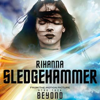 "Promotion for Rihanna's new single, ""Sledgehammer""Sony"