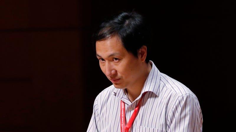 He Jiankui speaking today in Hong Kong.