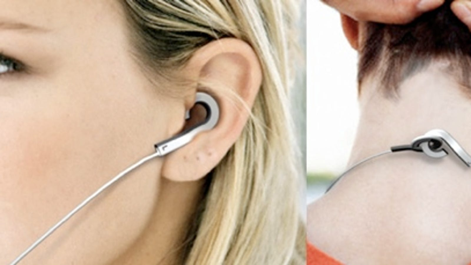 headphone splitter with amp - Holeder Earphones Concept Avoids Bacteria By Hanging in Your Ear
