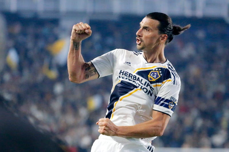 """Illustration for article titled Zlatan Ibrahimovic Scores Hat Trick, Calls LAFC Coach A """"Little Bitch"""""""