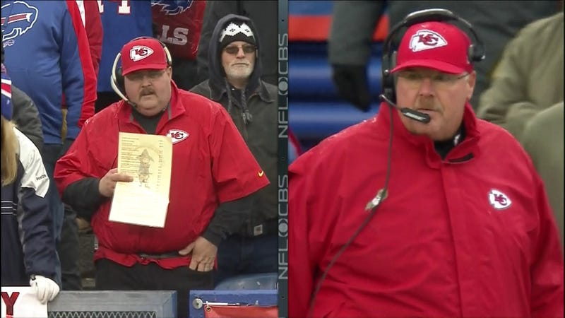 Illustration for article titled There Is A Phony Andy Reid In Buffalo Today