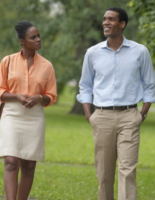 Tika Sumpter as Michelle Robinson and Parker Sawyers as Barack Obama in Southside With YouMatt Dinerstein, courtesy of Miramax and Roadside Attractions