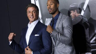Sylvester Stallone and Michael B. Jordan attend the Los Angeles premiere of Creed Nov. 19, 2015.VALERIE MACON/AFP/Getty Images