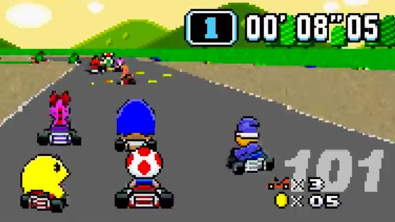 mario kart snes rom download