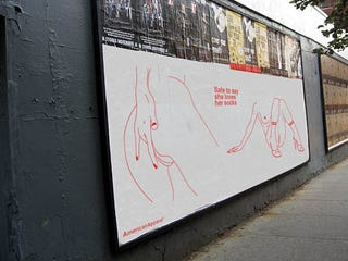 Illustration for article titled Porn-y American Apparel Billboard Is Probably Fake. Not That Anyone Can Tell!