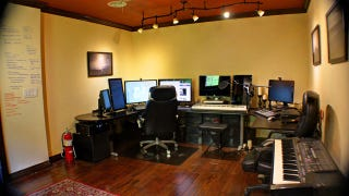 entire office decked. Taking A Peek At The Inside, You\u0027d Never Guess Today\u0027s Featured Workspace Is Actually Inside Of Barn, Would You? UI Designer Cory Watilo Renovated Entire Office Decked ,